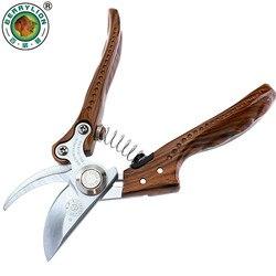 8 shears shears tesouras de poda 3-bordas sk5 aço tesoura de jardim liga de alumínio lidar com poda de árvore de fruto ferramentas de jardim