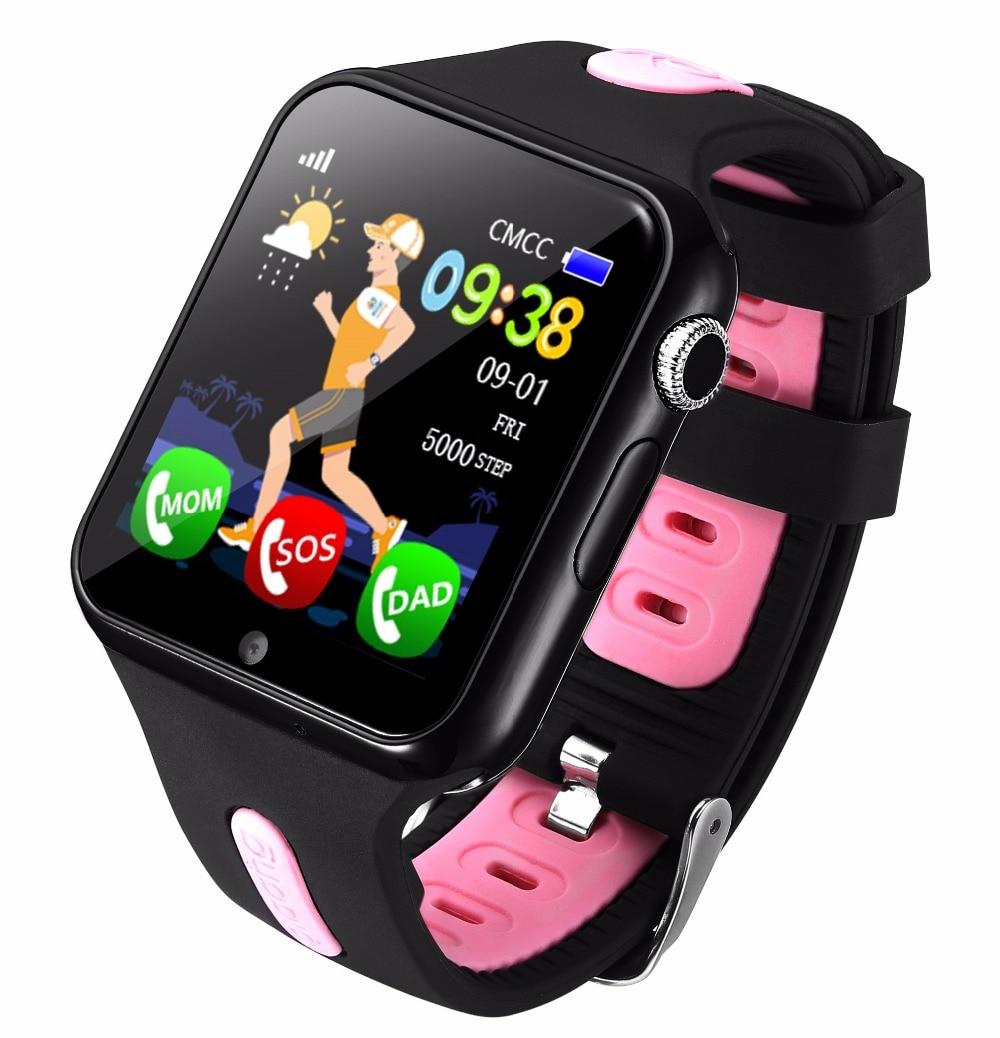 Детские Смарт-часы с GPS, детские спортивные умные часы с поддержкой sim-карты, защитные часы для телефона, детские часы