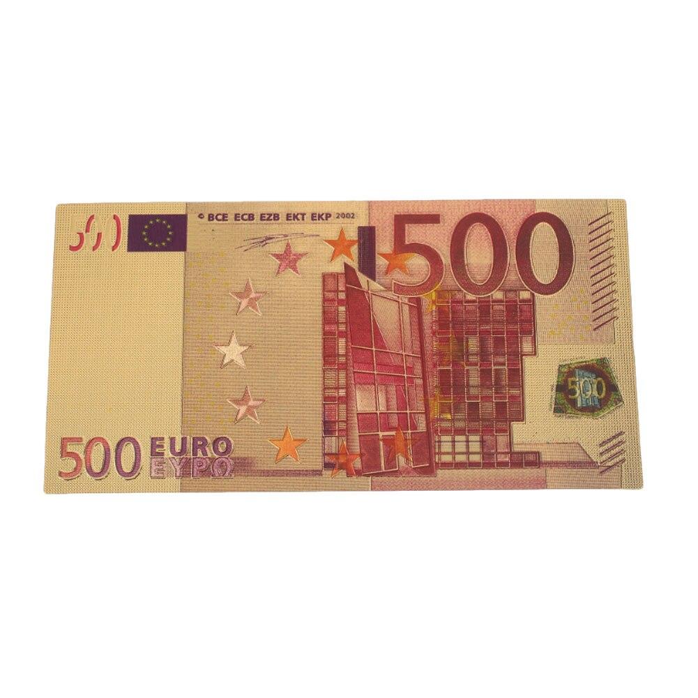 הנצחה הערות שטרות £ באיכות גבוהה 24K זהב מצופה אירו מזויף כסף 500 אירו זהב עתיק עתיק מצופה