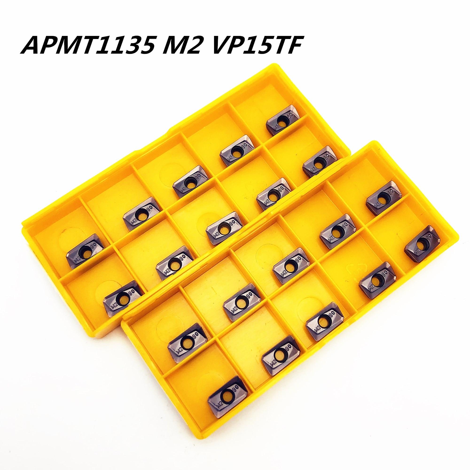 20PCS Carbide insert APMT 1135 PDER M2 VP15TF R0.8 plane milling machine lathe milling machine CNC tool APMT 1135 lathe tool