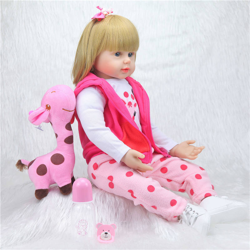 Bebes rebirth doll large 58cm silicone rebirth baby doll cute realistic child Bonecas girl menina de surprice doll hands open