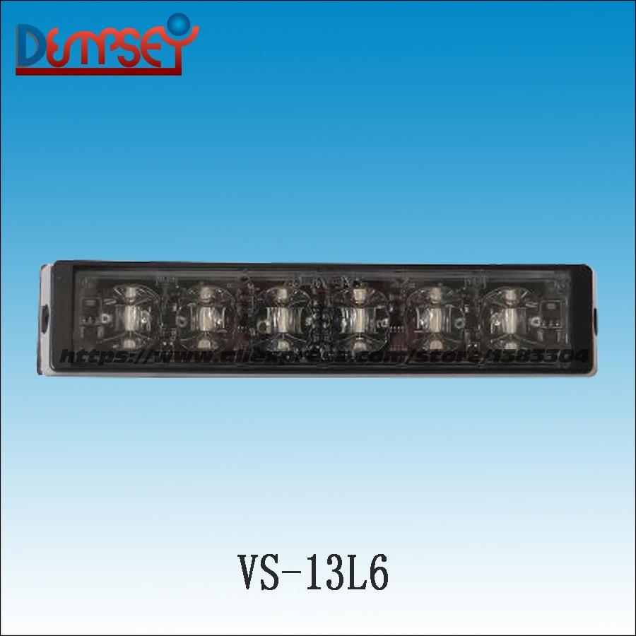 Dempsey LED Super Bright 12V-24V Strobe Emergency Warning Light Police Flashing Lightbar Grille Truck Beacon LED Lights(VS-13L6)