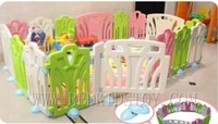 colorful plastic fence for kids playing center can be composed in any shape