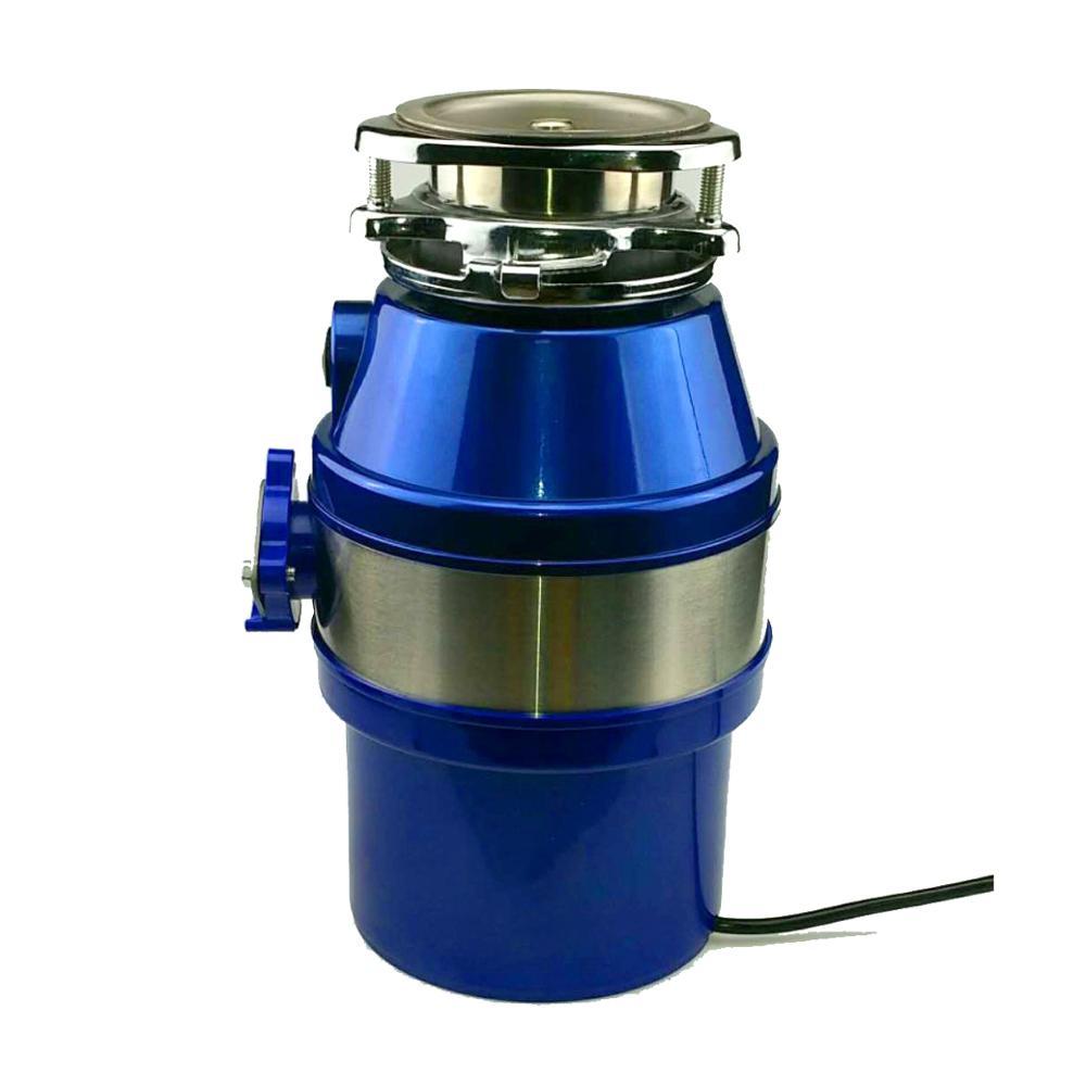 1L interruptor de aire, comida basura de eliminación de residuos de alimentos eliminador de acero inoxidable de material fregadero de residuos de alimentos trituradora