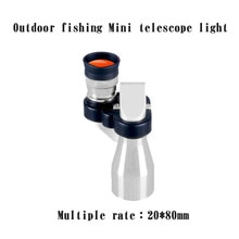 Telescope aluminum alloy 8X20 precision telescope monocular high power HD low light night vision 3.29
