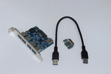 Adaptateur USB 3.0 4 ports PCI PCI-E 1X vers USB3.0 carte dextension PCI Express avec câble USB 30 cm vitesse 5 go pour ordinateur de bureau