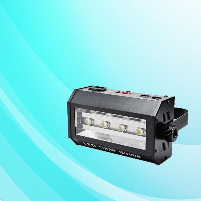 4 مصباح ستروب LED قوي ، 100 واط ، 100 واط ، DMX ، LED ، KTV ، بار ، ديسكو ، DJ ، حفلة ، ضوء فلاش مسرحي