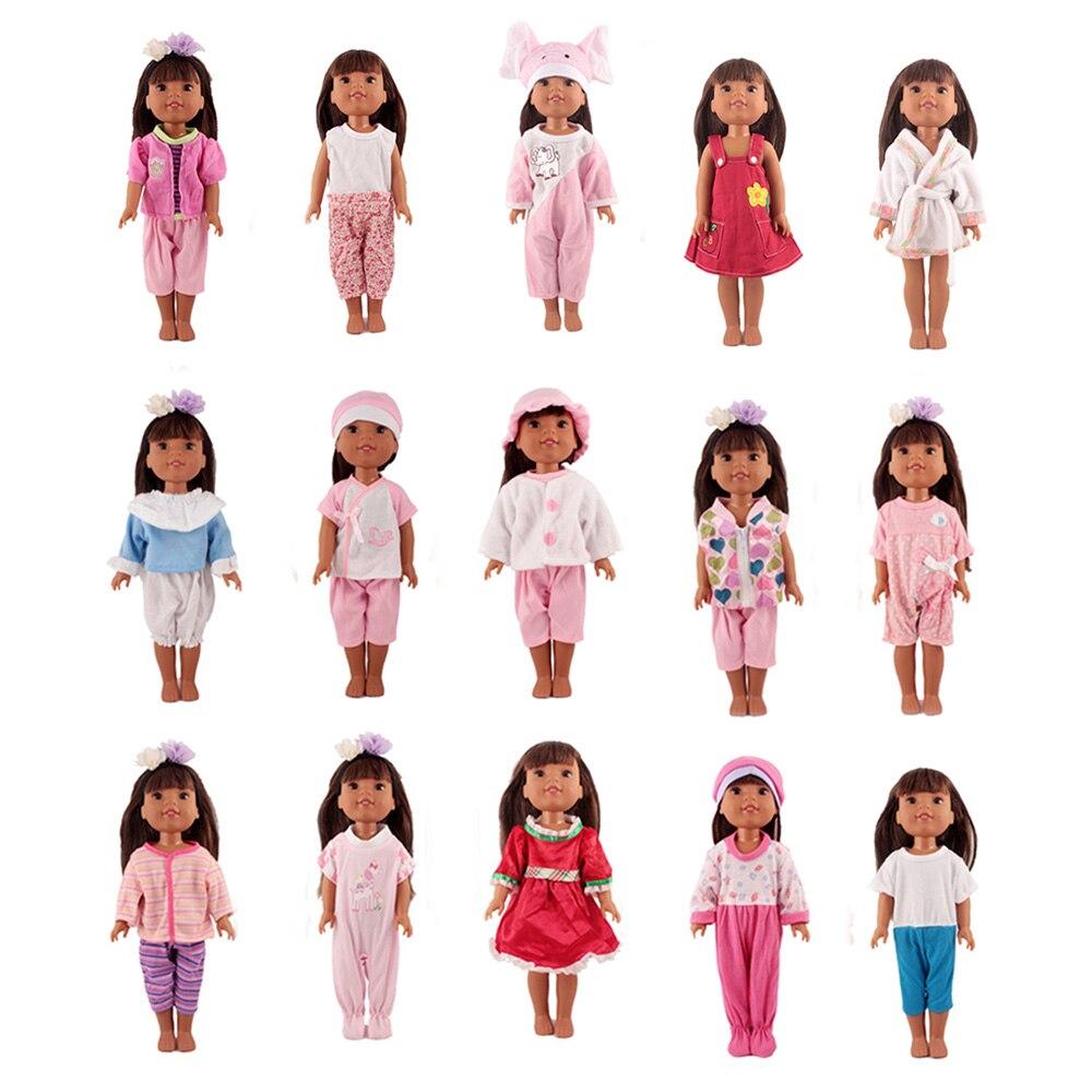 Ropa de muñeca de niña de 14 pulgadas de los Estados Unidos de 36cm, muñeca de bebé de 15 estilos diferentes, ropa informal para niños, el mejor regalo, muñeca de bebé