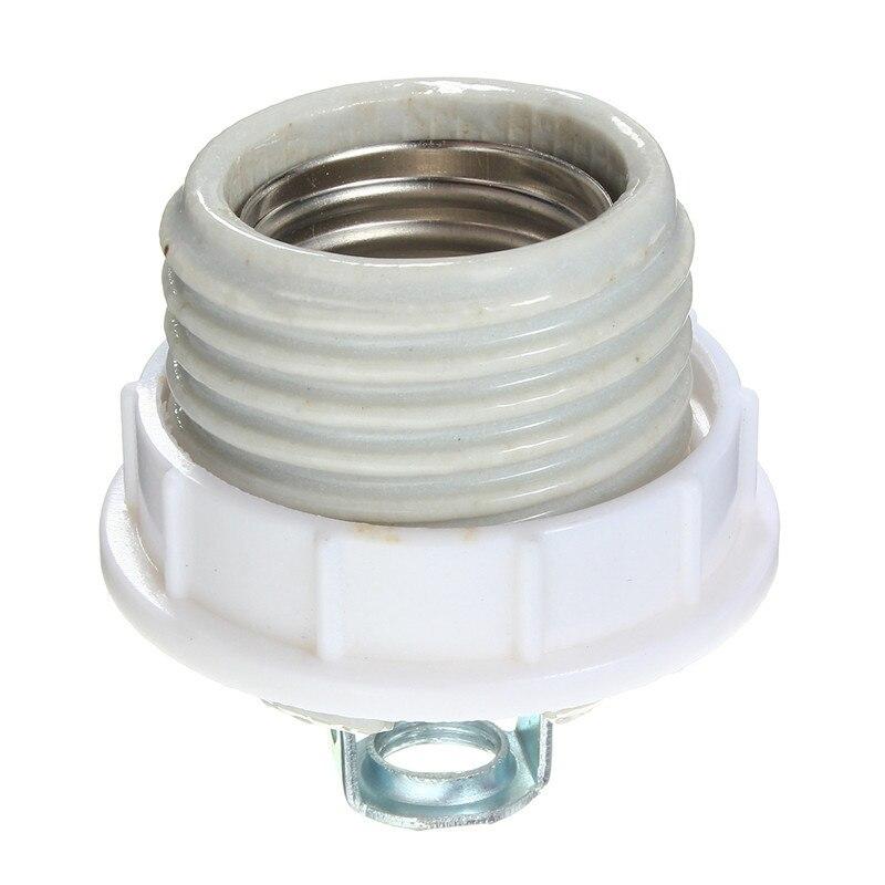 Keramik E27 Lampensockel Kappe Schraube Buchse Wärme Lampenfassung Glühbirne Lampenfassung Adapter Konverter
