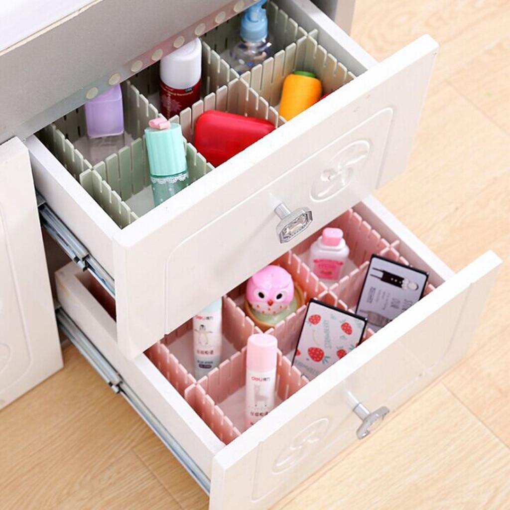Pink Green Plastic Makeup Storage Partition Free Combination Lattice Drawer Partition Plate Storage Box Organizer Drawer