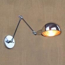 Loft Nordic Vintage Wandlamp Chroom Art Blaker Decoratieve Licht Verstelbare Hoofd Led 2 Swing Arm Wandlampen Lezen E27 ZBD0139