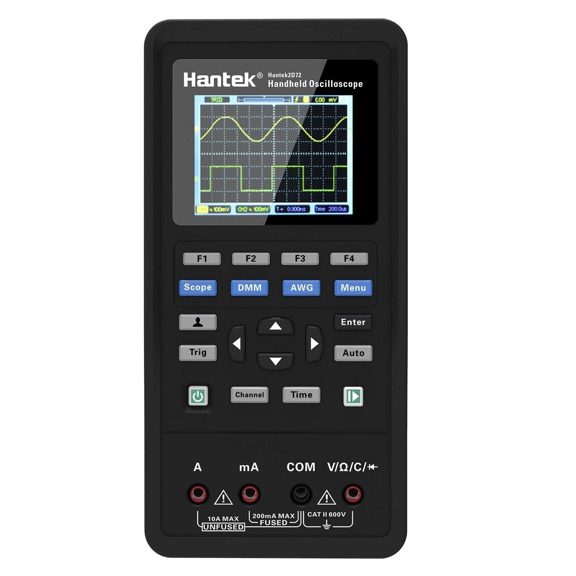 Hantek 3in1 Digital Oscilloscope+Waveform Generator+Multimeter Portable USB 2 Channels 40mhz 70mhz LCD Display Test Meter Tools