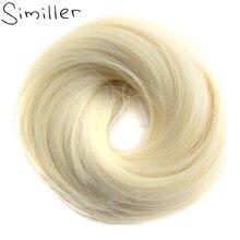 Imiller-banda de goma para el cabello, coletero liso, Donut, moño envolvente, fibra de alta temperatura, cabello sintético, piezas marrones, 613 #, boda