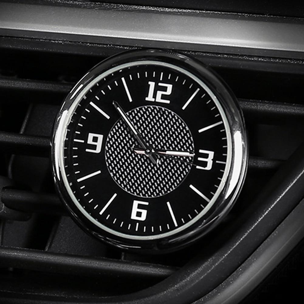 Accesorios luminosos ventilación de aire redondo Auto reloj salida interior Universal cuarzo portátil aguja calibre Mini con Clip