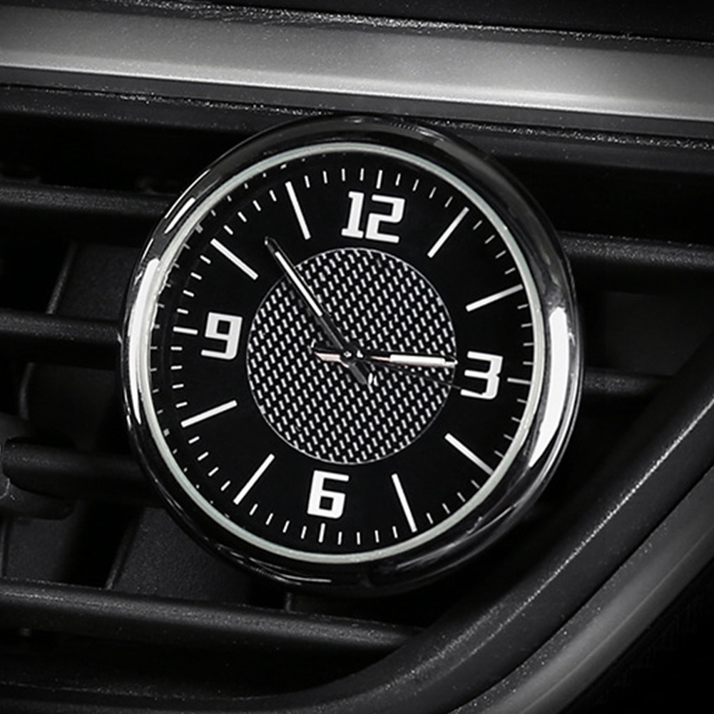 Accessories Luminous Air Vent Round Auto Car Clock Interior Outlet Universal Quartz Portable Needle Gauge Mini With Clip