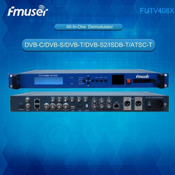 FUTV408X HD IRD (1 DVB-C/S/T/S2... ISDB-T... ATSC-T de entrada RF 1 ASI IP en 2 ASI 1 IP salida HDMI SDI CVBS XLR) con pantalla
