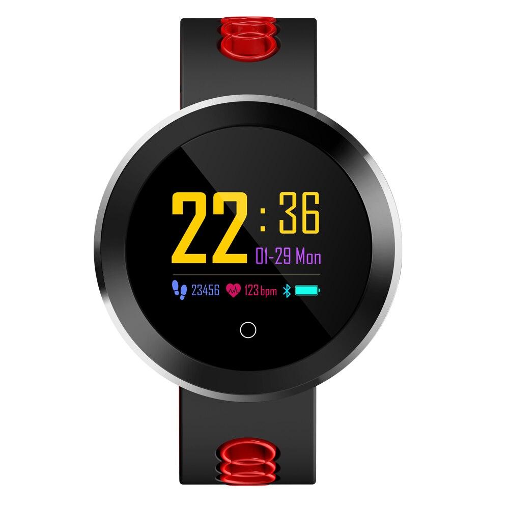 Lanxunke Q8 Pro Smartwatch Fitness Tracker Tempered Glass Smart Watch IP68 Waterproof Heart Rate Monitor Smart Bracelet