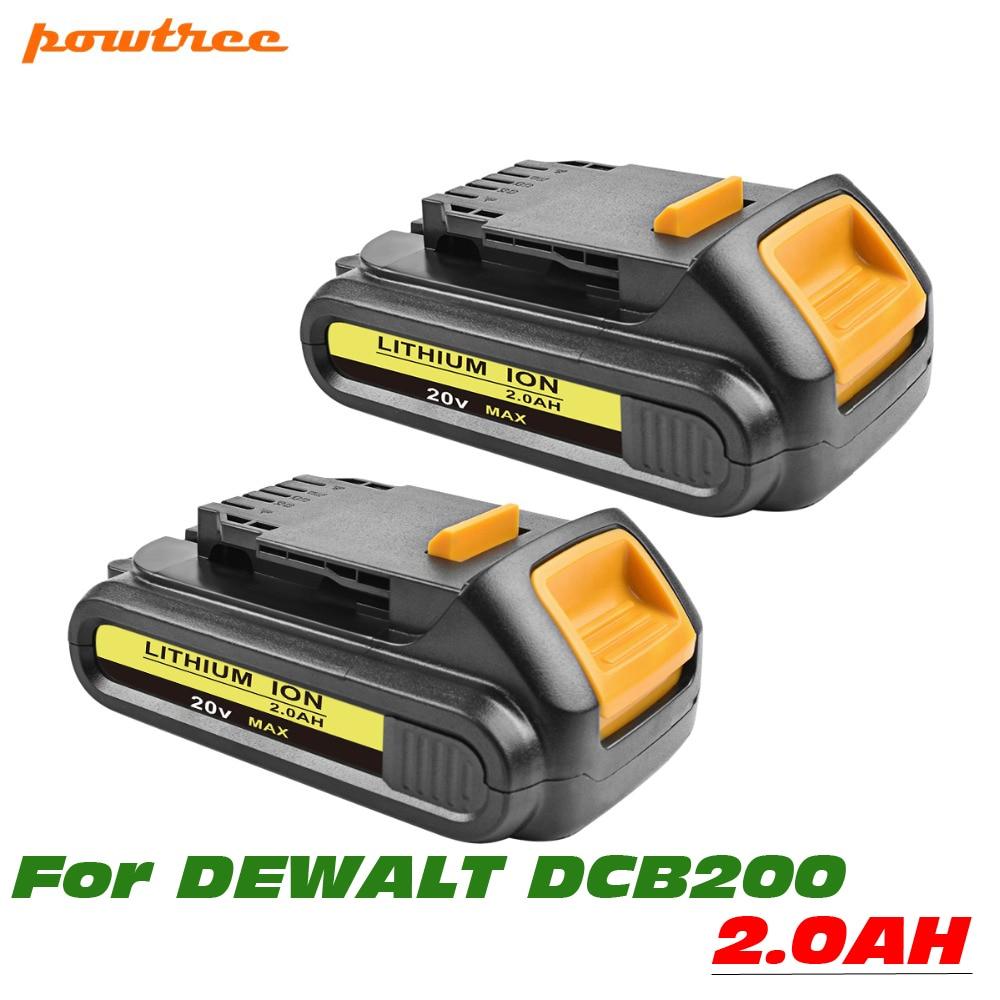 Литий ионный аккумулятор для электроинструмента DEWALT 1 или 2 упаковки 20 в 2000 мА · ч