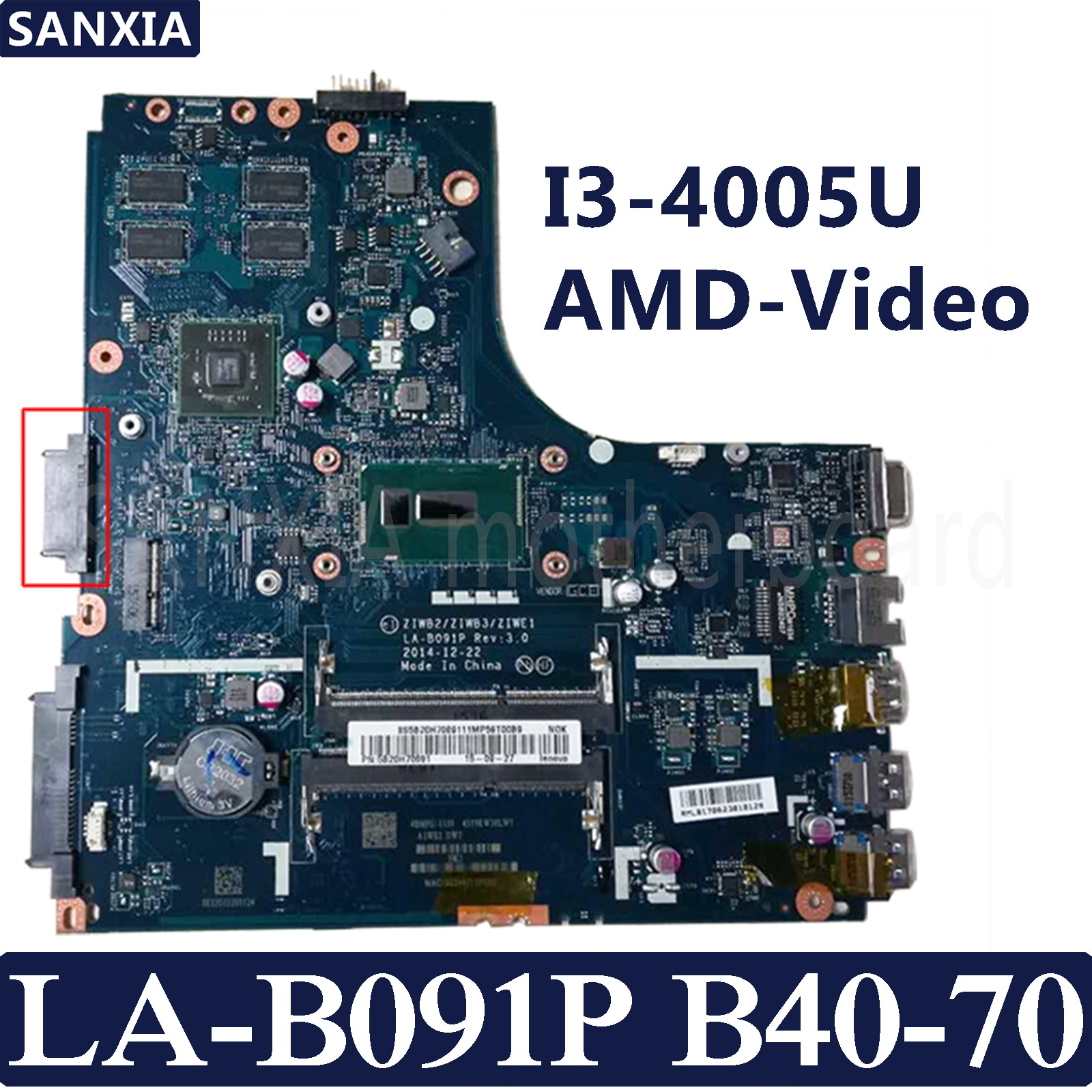 KEFU ZIWB2/ZIWB3/ZIWE1 LA-B091P placa base para portátil para Lenovo B40-70 prueba placa base original I3-4005U AMD-Video