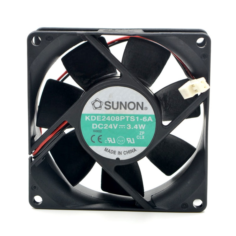 SUNON 8025 24V DC 3,4 W 80*80*25MM 8CM KDE2408PTB1-6A ventilador de refrigeración inversor de 2 cables KD2408PTB1-6