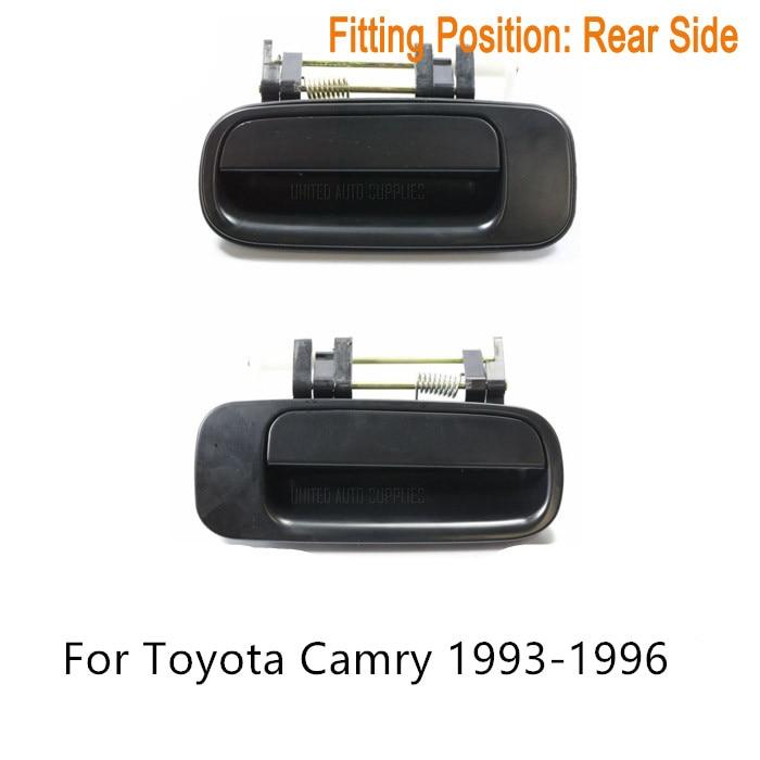PAR SET TRASERA Manija Exterior de La Puerta Suave Negro para Toyota Camry 1993-1996 OE 69230-33010,69240-33010