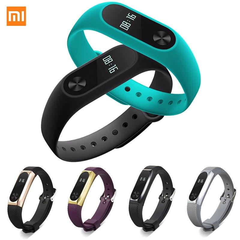 Xiaomi Mi banda 2 de Fitness inteligente reloj de pulsera Miband gota de panel táctil OLED Correa Monitor de sueño Monitor de ritmo cardíaco Mi Band2 H10