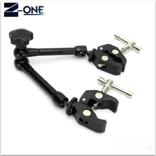 Bras magique articulé à Friction réglable de 11 pouces + Super pince + pince de téléphone pour moniteur LCD DSLR LED accessoires de caméra vidéo