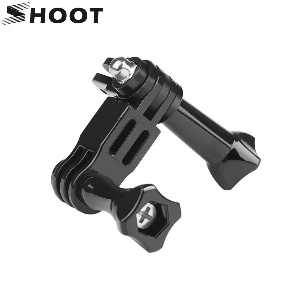SHOOT 3 Way Adjustment Base Mount Pivot Arm Adapter for GoPro Hero 7 8 5  Xiaomi Yi 4K Sjcam Eken Go Pro Action Camera Accessory