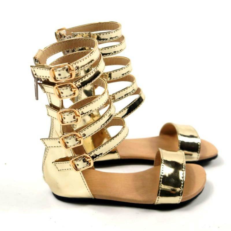 Sandalias de verano para niñas romanas, sandalias para bebés hechas a mano, zapatos de princesa, sandalias antideslizantes para niños, sandalias de cuero para niños