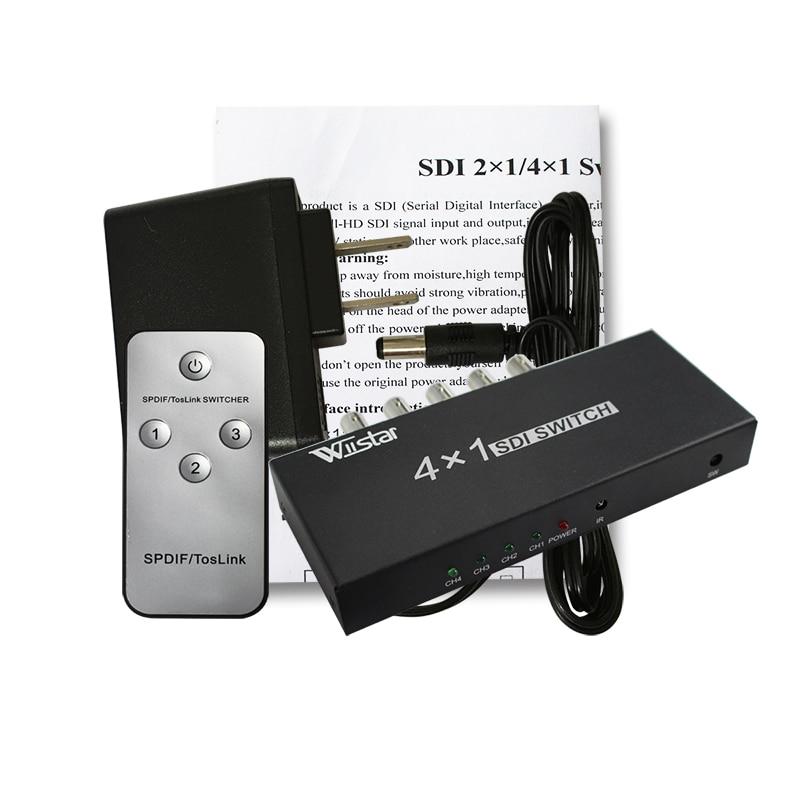 30 Uds SDI Switcher 4x1 HUB SDI interruptor inteligente extensor 4 a 1 Convertidor para 3G HD SD Monitor cámara de seguridad vídeo CCTV