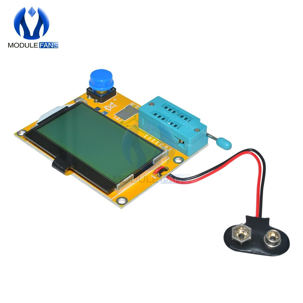 M328 LCR-T4 ESR Meter LCR led Transistor Tester Diode Triode Capacitance MOS PNP NPN 12864 Display Module Mega328 Board