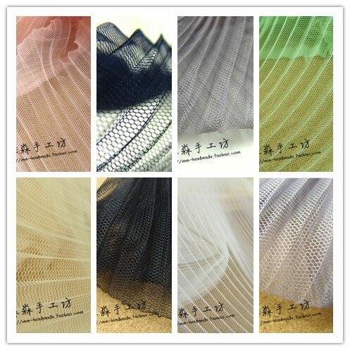1 malla de tul, tela plisada, tela de gasa de malla dura transparente para falda de baile, ropa para niños