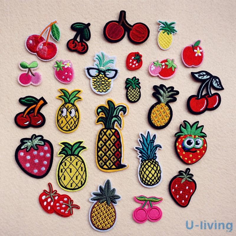 1 Uds mezcla de frutas parche para ropa de hierro bordado coser apliques parche bonito ropa DIY accesorios de ropa