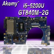 Akemy UX303LN carte mère dordinateur portable pour ASUS UX303LN UX303LB UX303L UX303 Test carte mère dorigine 4G RAM i5-5200U GT840M-2G