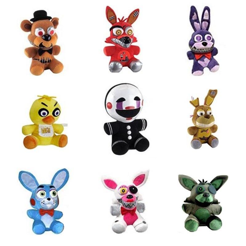 Nuevos cinco noches en Freddy 4 FNAF Golden Freddy foxy Bonnie Chica juguetes de peluche muñeco de peluche niños regalo Freddy Fazbear juguetes de peluche de 7 pulgadas