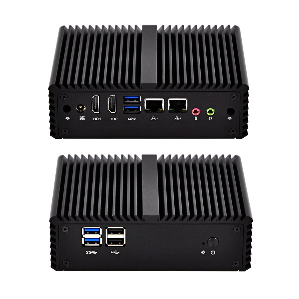 Fanless Dual Nics Micro PC Q450S met Core i5-4200U Processor 3 M Cache, tot 2.60 GHz, SIM slot, i5 mini pc win 10 linux