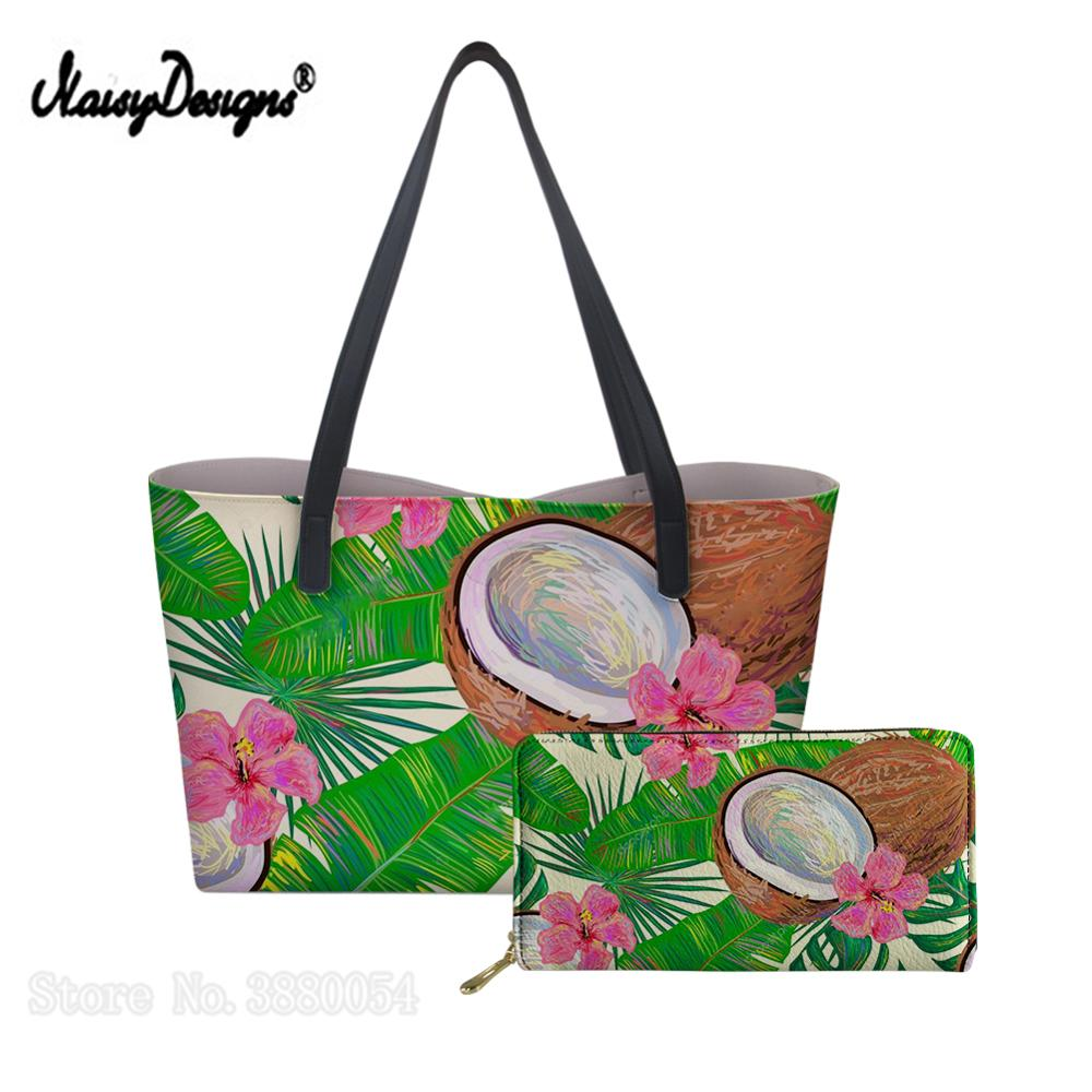 Womens Handbags Tropical Flower Bird Pineapple PU Purse Ladies Top-handle for Girls 2019 Custom Large Should Bag Dropshipping