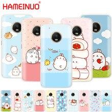 HAMEINUO Molang rabbits Cutest Kawaii Box Potatoes case phone cover For Motorola Moto X4 C G6 G5 G5S G4 Z2 Z3 PLAY PLUS