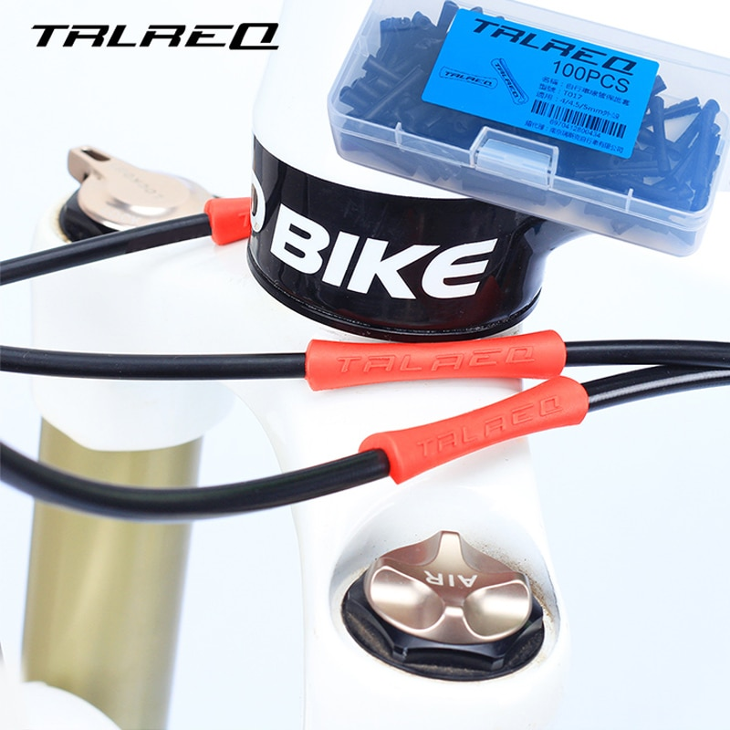 2020 TRLREQ 4 adet/grup bisiklet fren kablosu koruyucu kılıf boru koruyucu bisiklet vites fren konut kapak kauçuk kapak uç kapağı