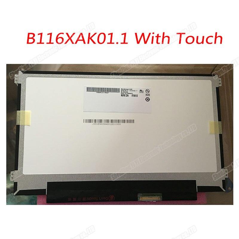 شاشة lcd LED مقاس 11.6 بوصة B116XAK01.1 مع محول رقمي بشاشة تعمل باللمس EDP 40 دبوس