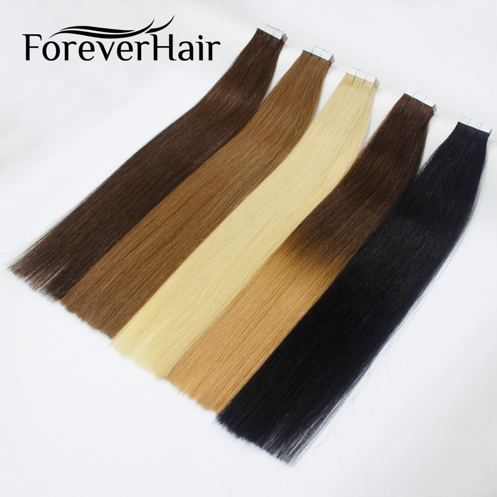 alishow tape in remy human hair extensions double drawn hair straight invisible skin weft pu tape on hair extensions FOREVER HAIR Tape In Human Hair Extensions 16 18 20 100% Real Remy Human Hair On Adhesives Tape PU Skin Weft Invisible 20pcs