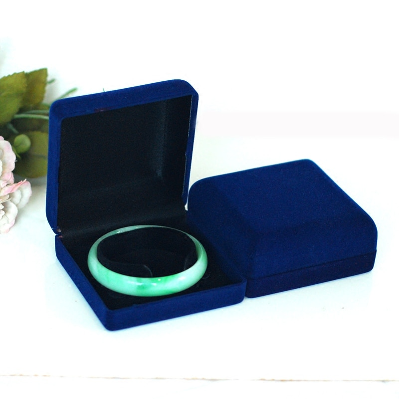 High Quality 10pcs Blue Color Square shape Luxury Velvet Gift Presentation Box Jewelry Watch Necklace Bracelet Case Box