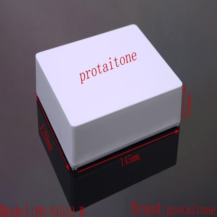 10pcs/lot PB-N1512-W Professional DIY Aluminum Metal GUITAR EFFECTS PEDAL BOX, 145(L)X120(W)X39(H)mm Free Shipping