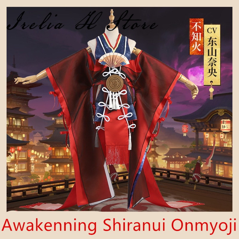 Despertar Shiranui Onmyoji SSR Shiranui buzo Ali Kimono Cosplay traje sexy vestido de Halloween traje de regalo