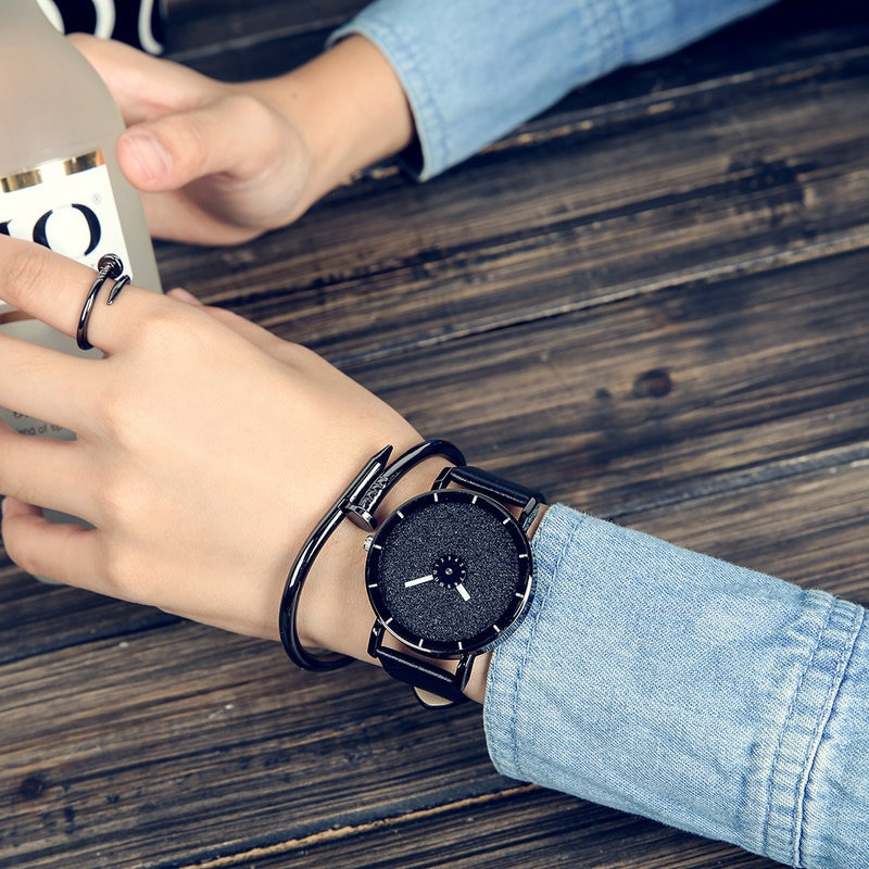 2018 MEIBO Hot Fashion Starry Sky Women Watches Luxury Quartz Leather Strap Colock Watch A9 Ladies W
