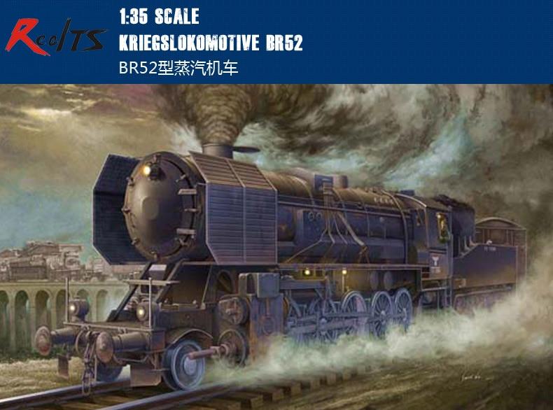 RealTS 1/35 Trumpeter 00210 Segunda Guerra Mundial modelo militar alemán tipo locomotora de vapor BR52