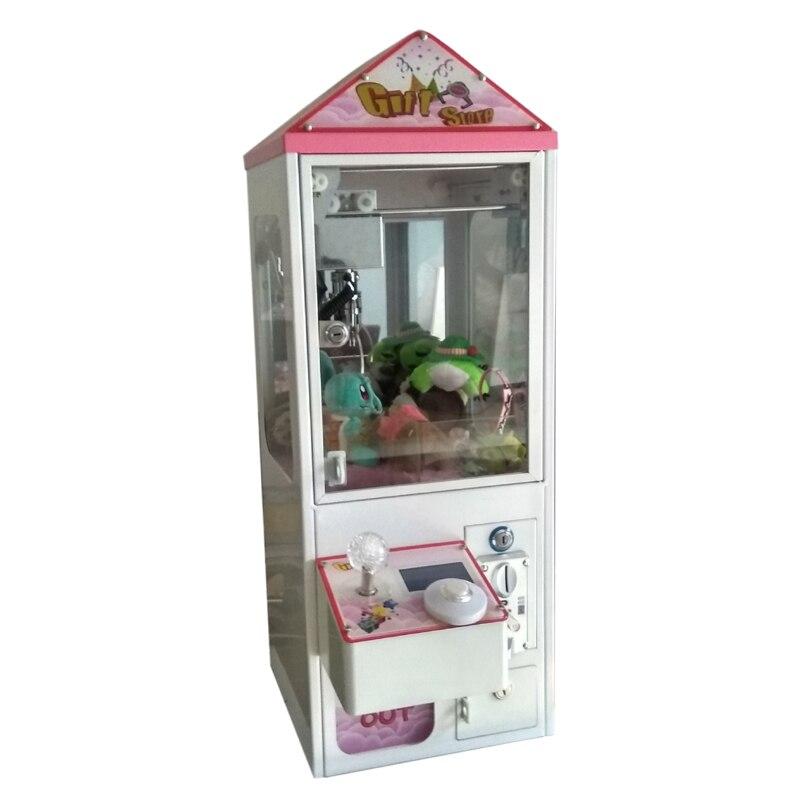 Moeda operado mini caixa de metal bartop arcada garra guindaste máquina doces brinquedo coletor para venda 5 ano garantia