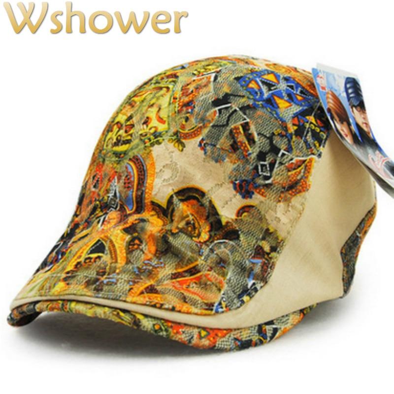 JAMONT 5 colores de verano de mujeres boinas sombrero Floral boinas gorra de pico de pato hueso plano gorra de señora de vendedor de periódicos sombrero