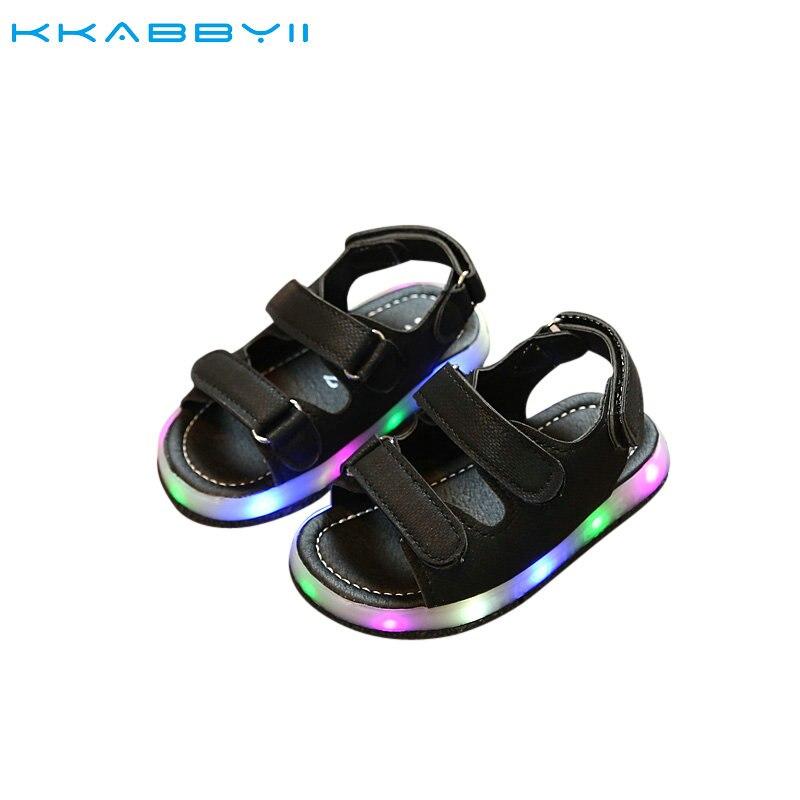NEUE Sommer Led Licht Schuhe Kinder Sandalen Jungen Mädchen Weise Beleuchtet Sandalen Kinder Baby Leucht Schuhe