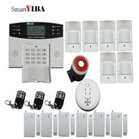 SmartYIBA     systeme dalarme de securite domestique  GSM GPRS  2G  SIM  sans fil  avec telecommande  pour maison connectee